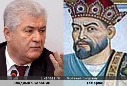 Владимир Воронин похож на Тамерлана