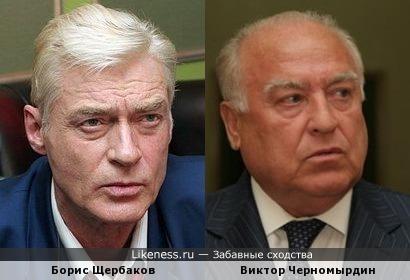 Борис Щербаков похож на Виктора Черномырдина