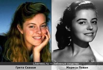 Мариса Паван похожа на Грету Скакки