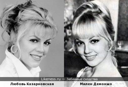 Милен Демонжо похожа на Любовь Казарновскую, как дочь на мать
