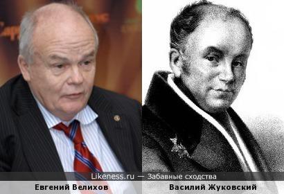 Василий Жуковский напоминает Евгения Велихова