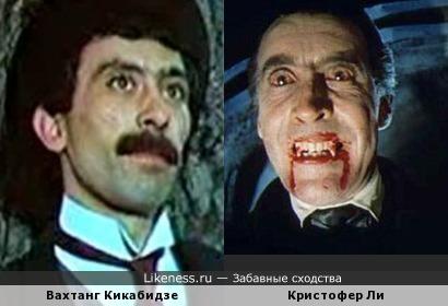 Кристофер Ли в роли Дракулы напоминает Вахтанга Кикабидзе