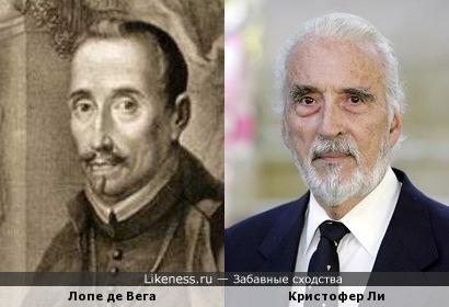 Лопе де Вега похож на Кристофера Ли