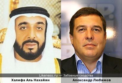 Халифа Аль Нахайян похож на Александра Любимова