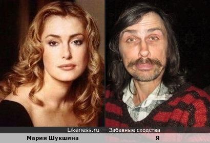 Мария Шукшина похожа на меня, как дочь на отца