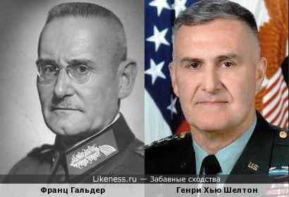 Франц Гальдер и Генри Хью Шелтон