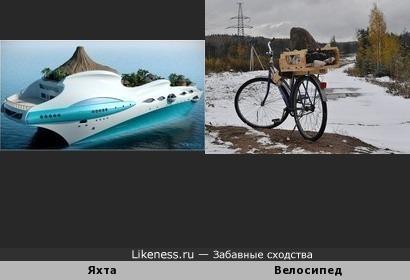 Проект яхты с вулканом Tropical Island Paradise напоминает мой велосипед со скалой