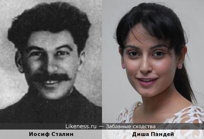Диша Пандей напомнила молодого Сталина