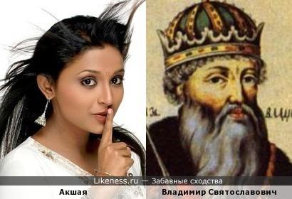 Индийская актриса похожа на крестителя Руси, как дочь на отца