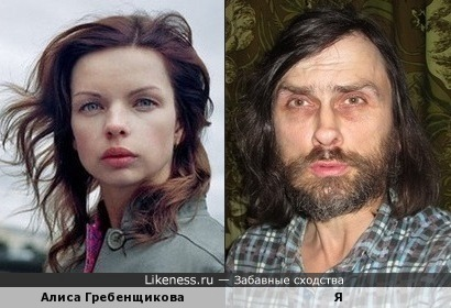 Алиса Гребенщикова напоминает меня