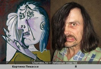 Картина Пикассо «Плачущая женщина» напоминает меня