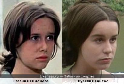 Евгения Симонова похожа на рабыню Изауру