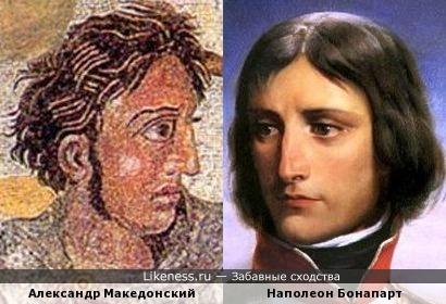 Александр Македонский на фреске в Помпеях напоминает Наполеона Бонапарта