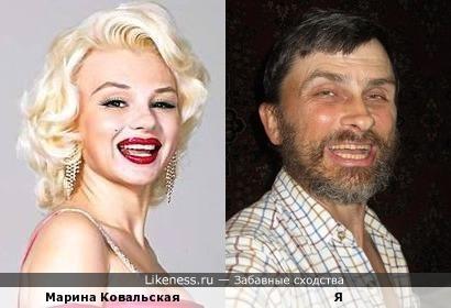 Марина Ковальская и я — двойники Мэрилин Монро