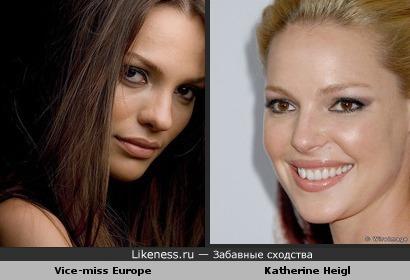 Vice Miss Europe похож на Katherine Heigl
