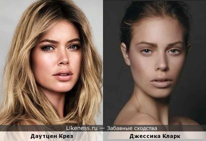 Модели Даутцен Крез и Джессика Кларк