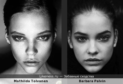 Матильда Толванен и Барбара Палвин похожи