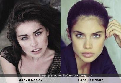 Мария Базюк похожа на Сару Сампайо