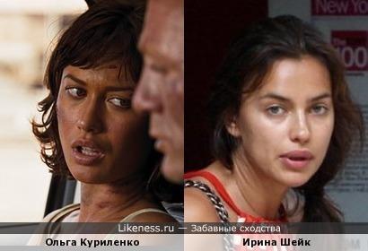 Загарелая Куриленко похожа на Ирину Шейк