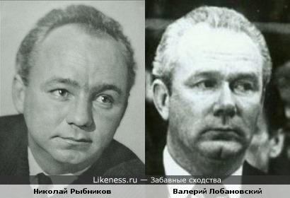 Николай Рыбников и Валерий Лобановский