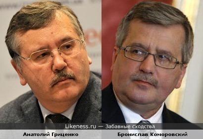 Анатолий Гриценко и Бронислав Коморовский