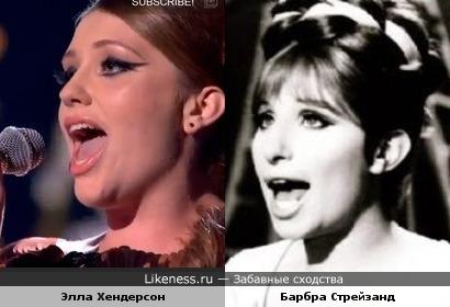Да, да, они очень разные, но не о портретном сходстве речь. Элла Хендерсон и ее кумир.