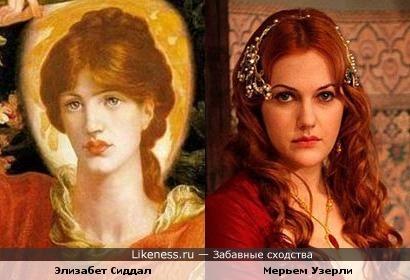 Жена и натурщица Габриэля Россетти и Мерьем Узерли
