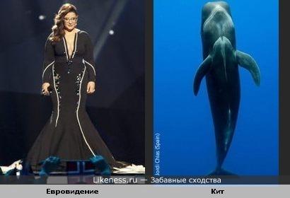 Платье напомнило кита под водой