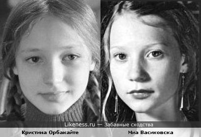 Кристина в роли Чучела и Миа Васиковска