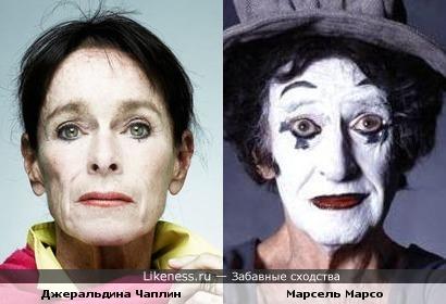 Джеральдина Чаплин похожа на мима
