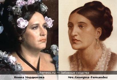 Нонна Мордюкова на портрете 1874 года (Данте Габриэль Россетти)