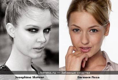 Модель и актриса похожи
