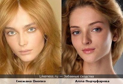 Модель показалось похожей на актрису