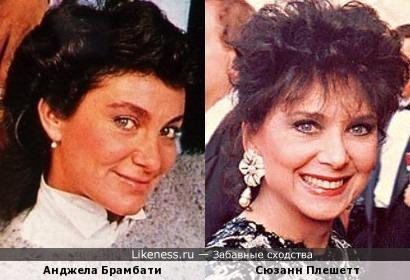 Анджела Брамбати (Ricchi e Poveri) и Сюзанн Плешетт