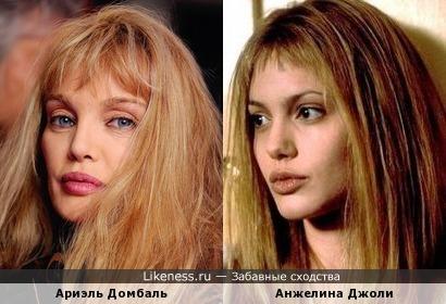 Ариэль Домбаль и Анжелина Джоли (думая, я не оригинальна в своем сравнении, но сходство я заметила только сегодня)