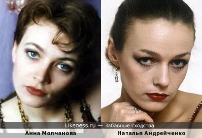 Анна Молчанова похожа на Наталью Андрейченко