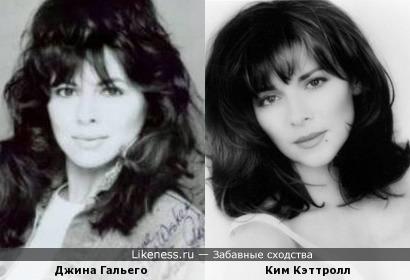 """Ким Кэттролл ( «Секс в большом городе») и Джина Гальего (""""Санта-Барбара)"""""""