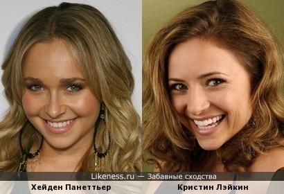 Хейден Панеттьер и Кристин Лэйкин