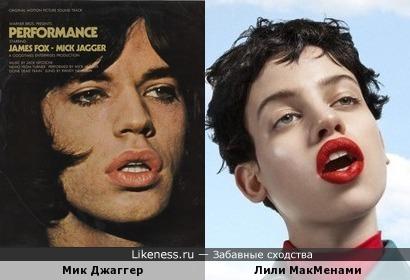 """Мик Джаггер и """"страшно красивая"""" модель Лили МакМенами"""