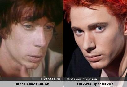 Никита Пресняков в образе Мэттью Беллами (Matthew Bellamy) и российский актер Олег Севастьянов