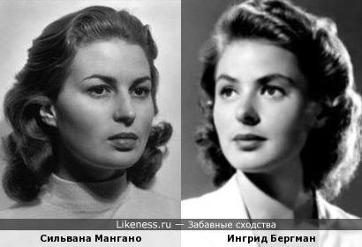 Сильвана Мангано и Ингрид Бергман