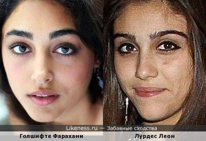 Иранская актриса и дочка Мадонны