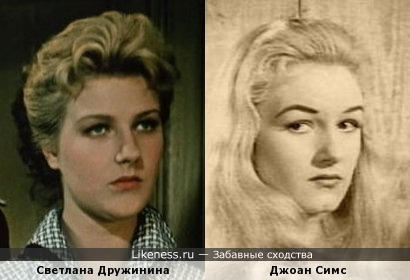 Джоан Симс похожа на Светлану Дружинину