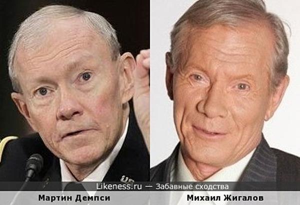 Мартин Демпси и Михаил Жигалов