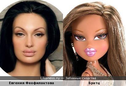 Евгения Феофилактова и ее прототип