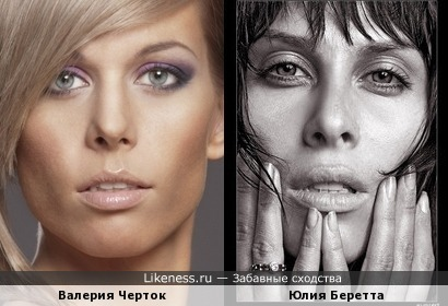 Валерия Черток и Юлия Беретта