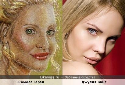 Нарисованная Ромола Гарай Джулия Ванг