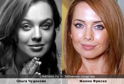 Жанна Фриске и Ольга Чудакова