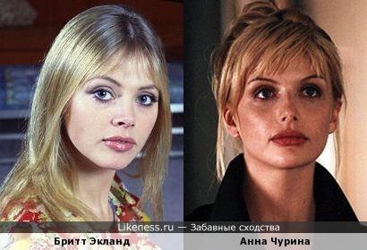 Бритт Экланд и Анна Чурина