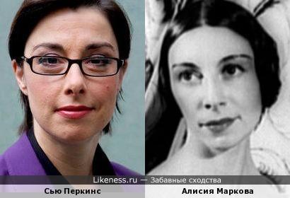 Комедийная актриса Сью Перкинс и балерина Алисия Маркова